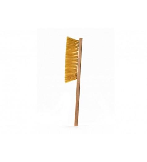 Четка с дървена дръжка с бял косъм